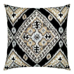 22 Square Designer Throw Pillow Ikat Diamond Onyx