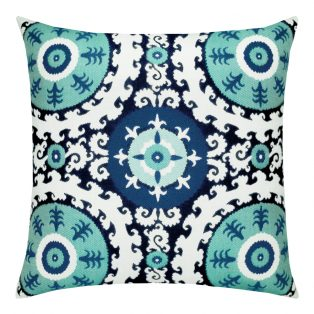 22 Square Designer Throw Pillow Suzani Midnight