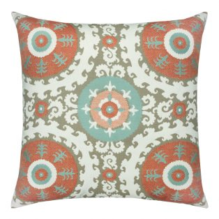22 Square Designer Throw Pillow Suzani Oasis