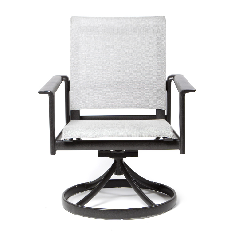 Contempo Sling Swivel Rocker Dining Chair   Today's Patio