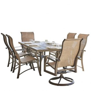 Cortland Sling 7 Piece Dining Set
