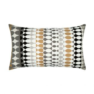 Designer Lumbar Pillow Modern Oval Dune