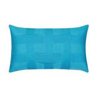 Elaine Smith Designer Lumbar Pillow Basketweave Azure