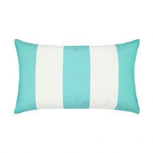 Elaine Smith Designer Lumbar Pillow Cabana Aqua