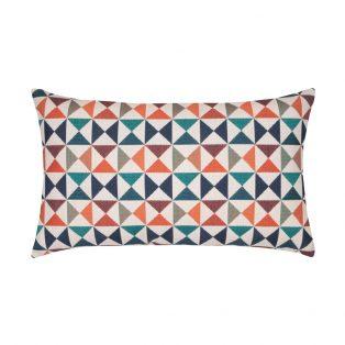Elaine Smith Designer Lumbar Pillow Caribbean