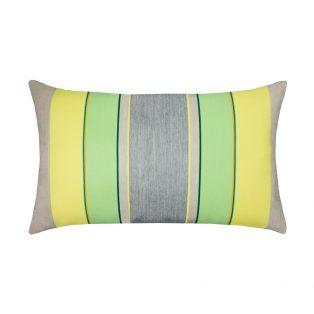 Elaine Smith Designer Lumbar Pillow Citrus Stripe