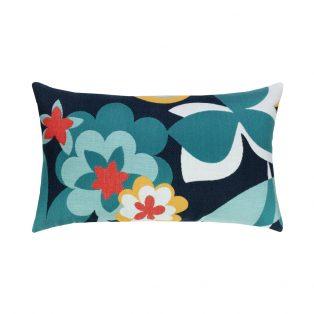 Elaine Smith Designer Lumbar Pillow Floral Impact