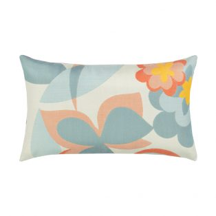 Elaine Smith Designer Lumbar Pillow Floral Pop