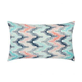 Elaine Smith Designer Lumbar Pillow Gradient Fans Poolside