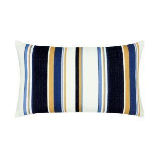 Elaine Smith Designer Lumbar Pillow Harbor Stripe
