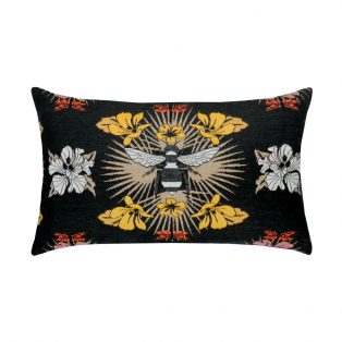 Elaine Smith Designer Lumbar Pillow Honey Bee