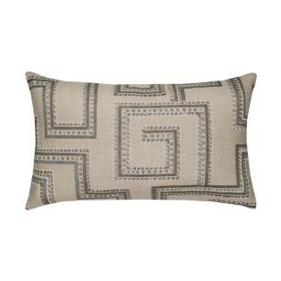 Elaine Smith Designer Lumbar Pillow Maze Slate