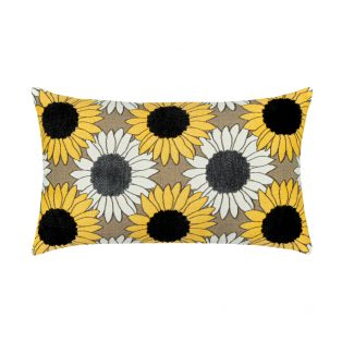 Elaine Smith Designer Lumbar Pillow Sunflower Field