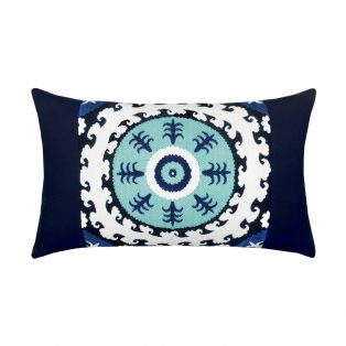 Elaine Smith Designer Lumbar Pillow Suzani Midnight