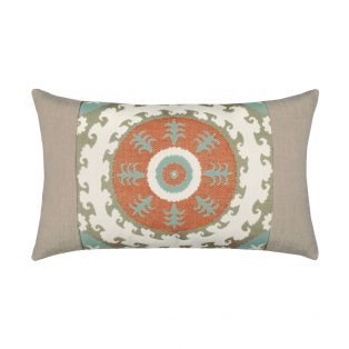 Elaine Smith Designer Lumbar Pillow Suzani Oasis