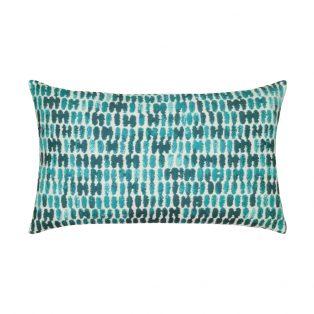 Elaine Smith Designer Lumbar Pillow Thumbprint Aruba