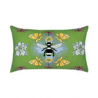 Elaine Smith Designer Lumbar Pillow Tropical Bee Spring