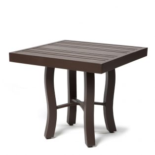 Tri Slat 22 Square End Table