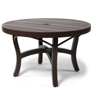Tri Slat 36 Round Coffee Table