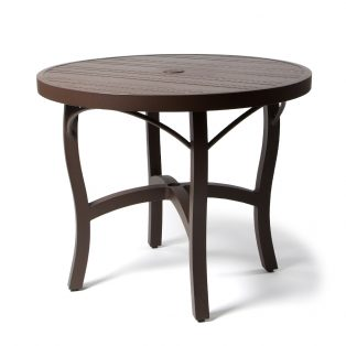 Tri Slat 36 Round Dining Table