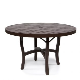 Tri Slat 48 Round Dining Table