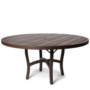 Tri Slat 60 Round Dining Table