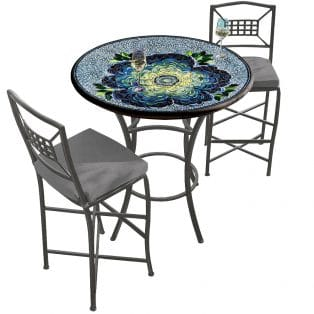 36 Round Bar Height Bistro Set