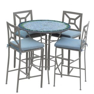 Belize 42d Hight Dining W Milano Bar Chairs Pew Spa