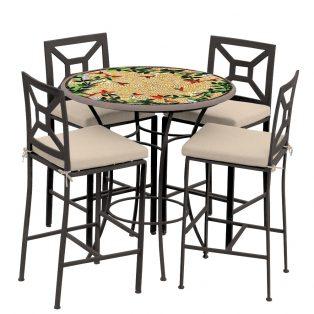 Carmel Hummingbird 42d Hight Dining W Milano Bar Chairs Esp Hb