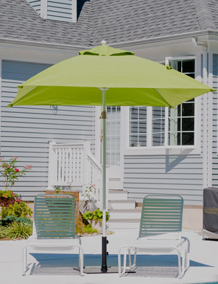 6.5' Square Commercial Umbrellas