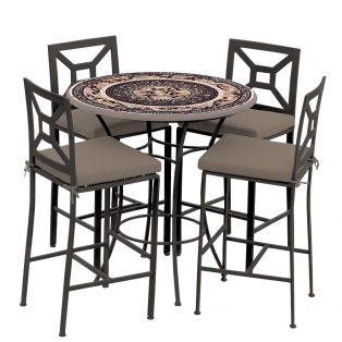 Provance 42d Hight Dining W Milano Bar Chairs Esp Cocoa