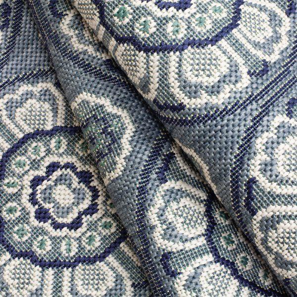 Treasure Garden Meridian Steel Blue Fabric