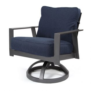Luxe Swivel Dining Chair Indigo