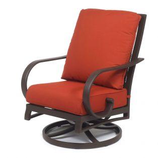 Sedona Hb Swivel Club Chair Terracotta
