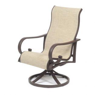 Sedona Sling Swivel Dining Chair