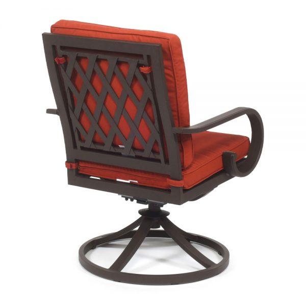 Sedona Swivel Dining Chair Terracotta Back