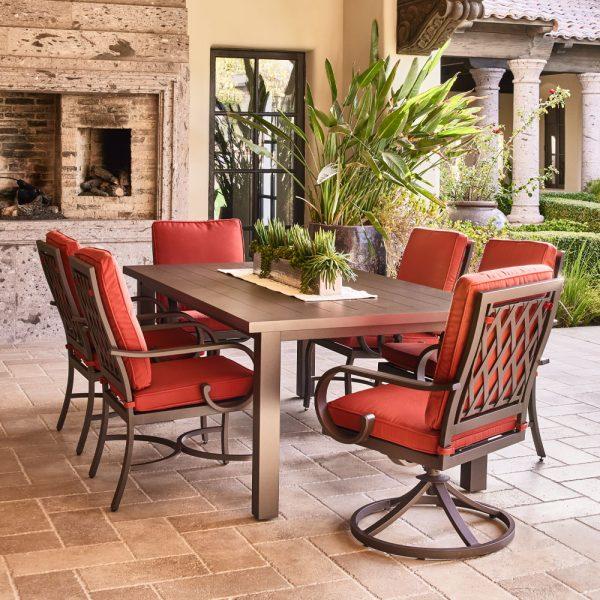 Sedona Swivel Dining Chair Terracotta Life