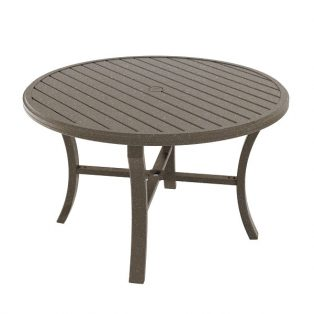Banchetto 48 Round Dining Table Mocha