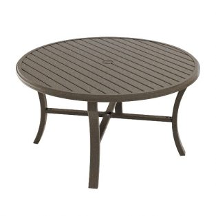 Banchetto 54 Round Dining Table Mocha