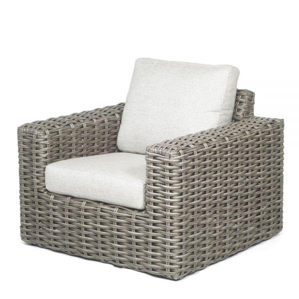 Mia Club Chair Crosshatch Vapor