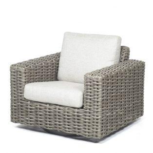 Mia Swivel Club Chair Crosshatch Vapor