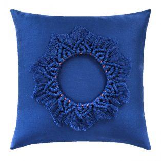 20 Square Designer Throw Pillow Mandala Lapis