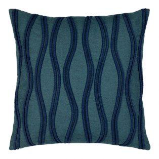 20 Square Designer Throw Pillow Ripple Deep Sea