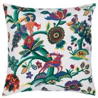 22 Square Designer Throw Pillow Folk Art Jewel