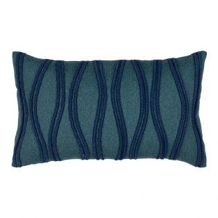 Designer Lumbar Pillow Ripple Deep Sea