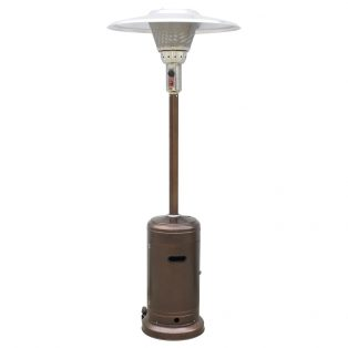 Tall Commercial Patio Heater Bronze